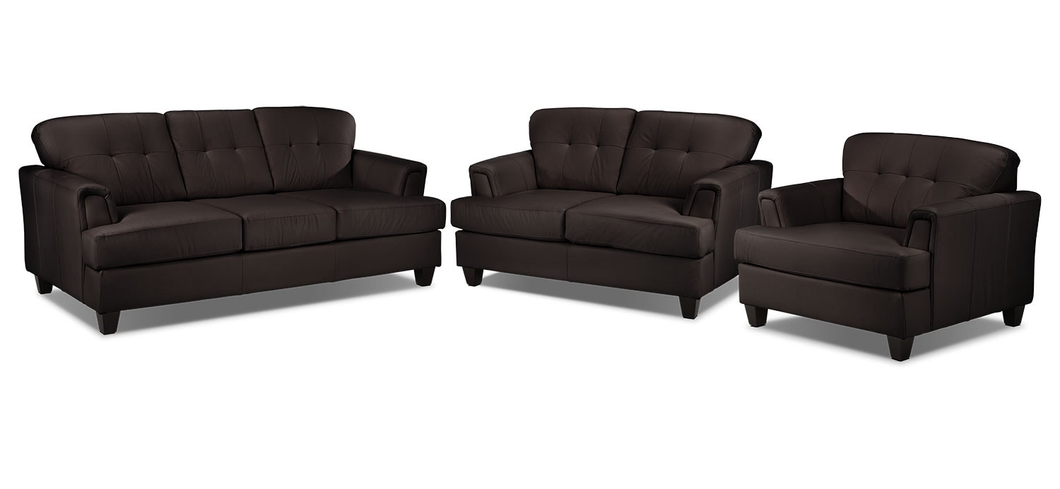 Spencer 3 Pc. Living Room Package - Coffee