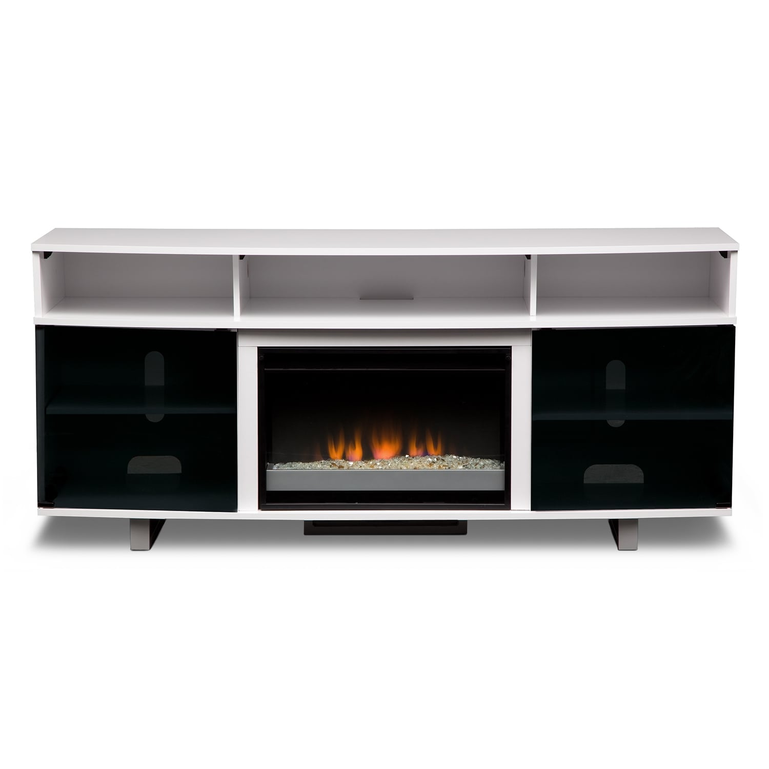 "King Size Mattress Serta Abruzzo White 72"" Contemporary Fireplace TV Stand ..."