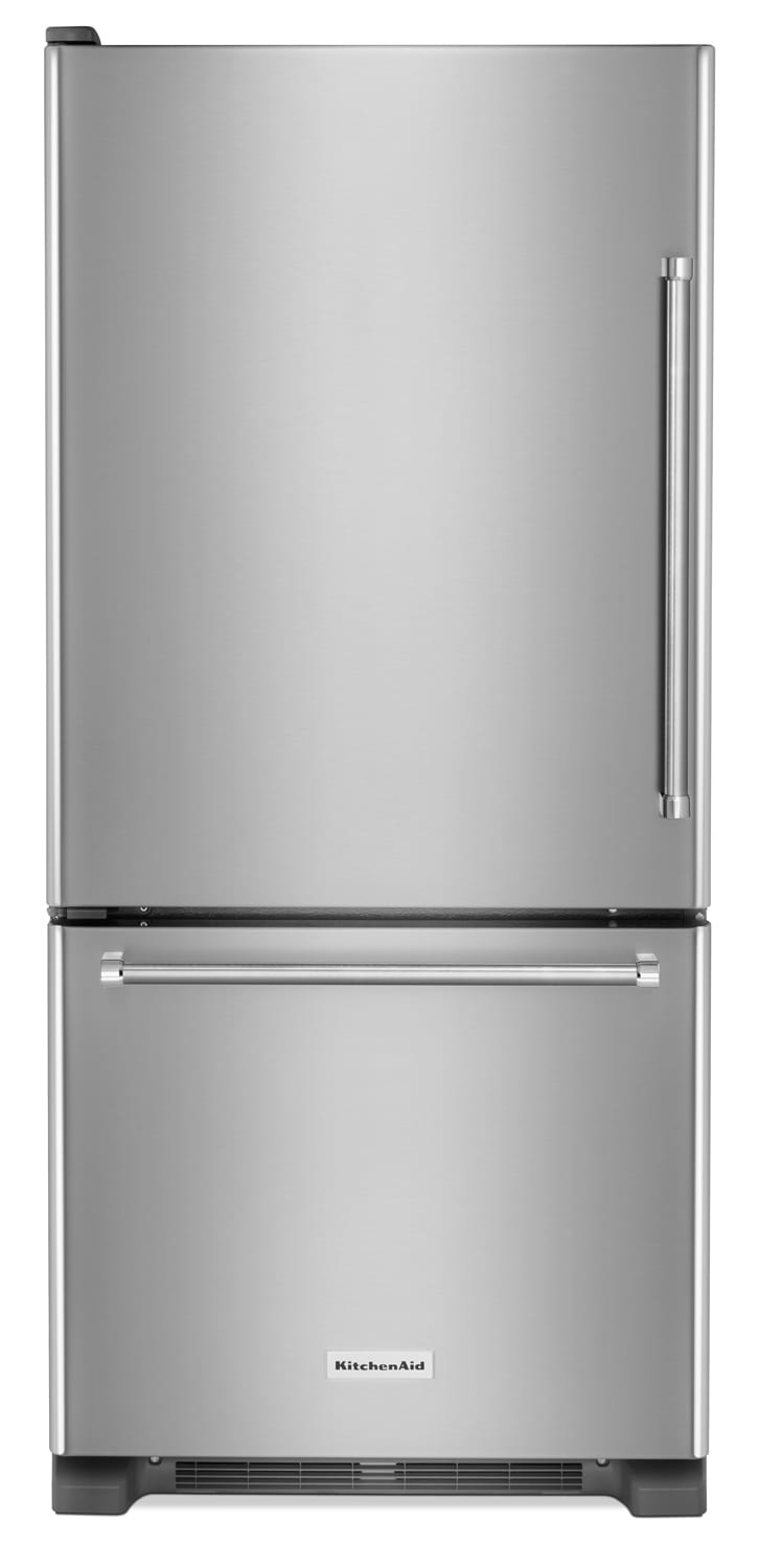 Refrigerators and Freezers - KitchenAid 19 Cu. Ft. Bottom-Mount Refrigerator with Left Door Swing- Stainless Steel