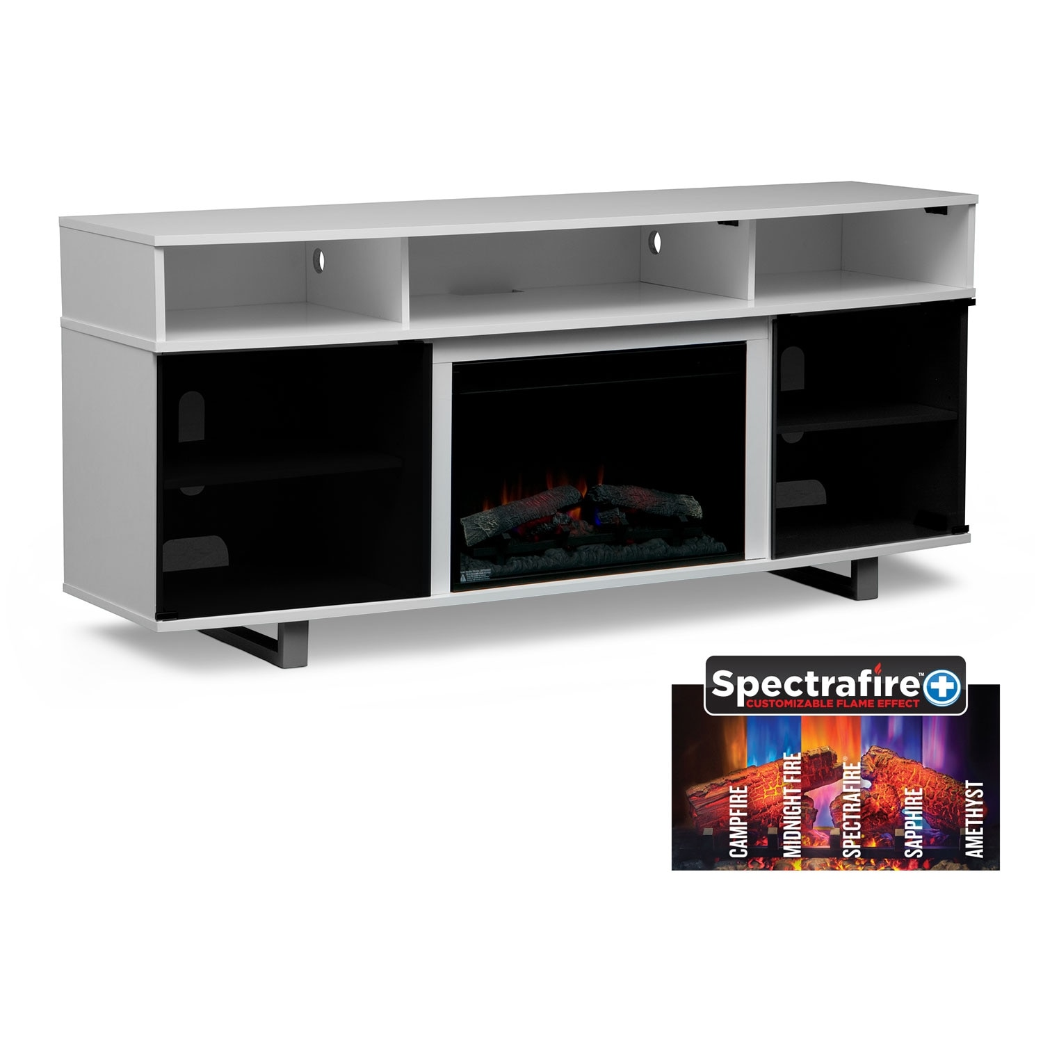 Pacer 72 Traditional Fireplace Tv Stand White Value