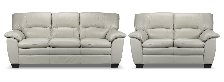 Rodero Sofa and Loveseat Set - Grey