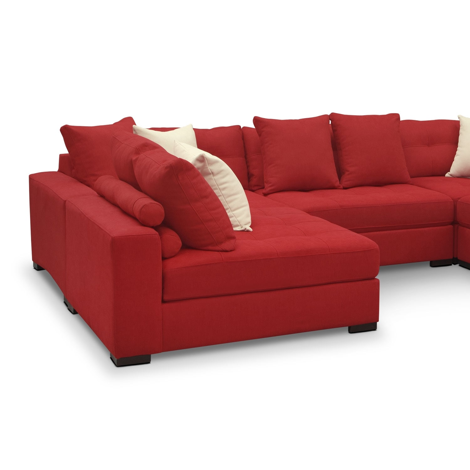 Venti 6 piece sectional red value city furniture for Red sectional sofa value city