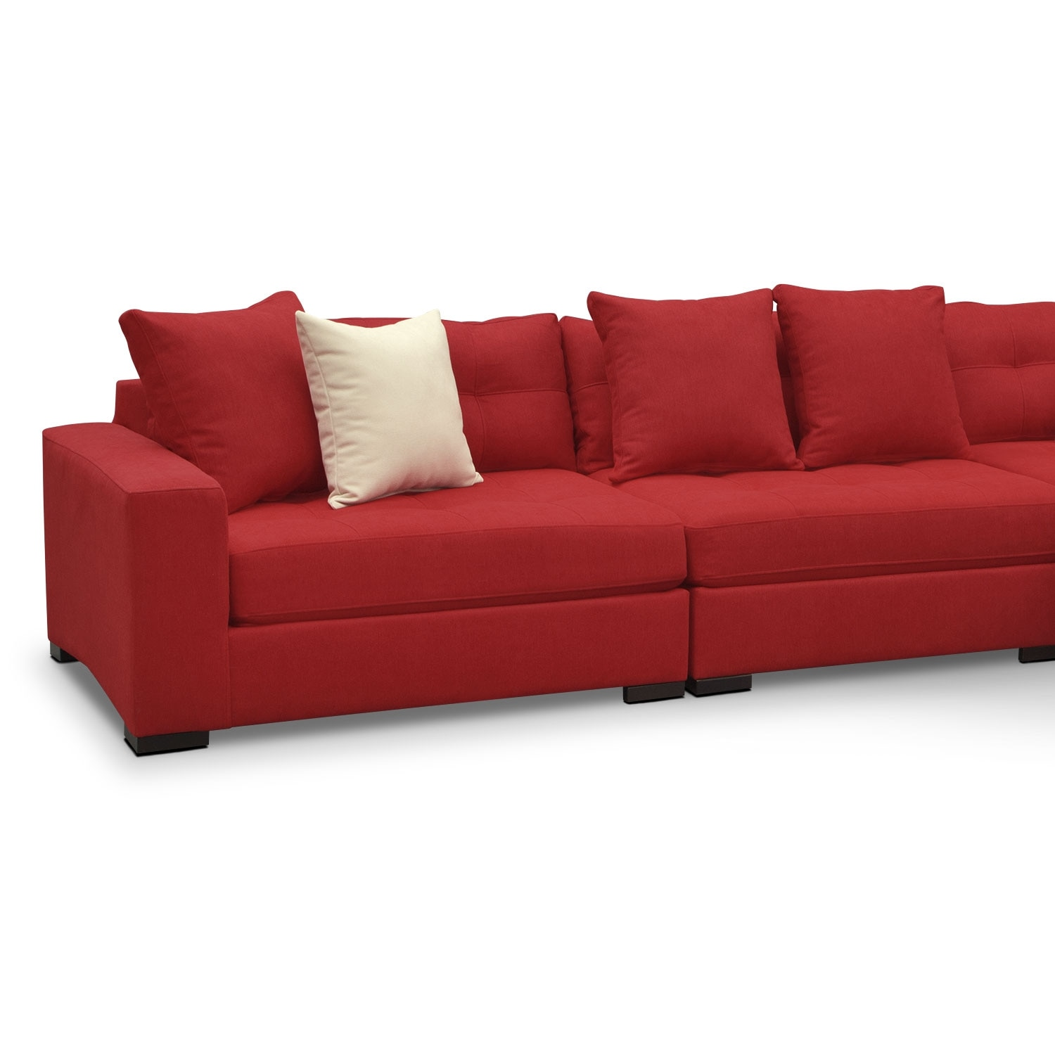 Venti 4 piece sectional red value city furniture for Red sectional sofa value city