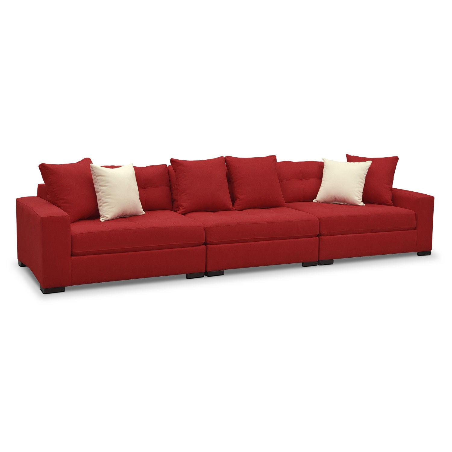 [Venti Red 3 Pc. Sectional]
