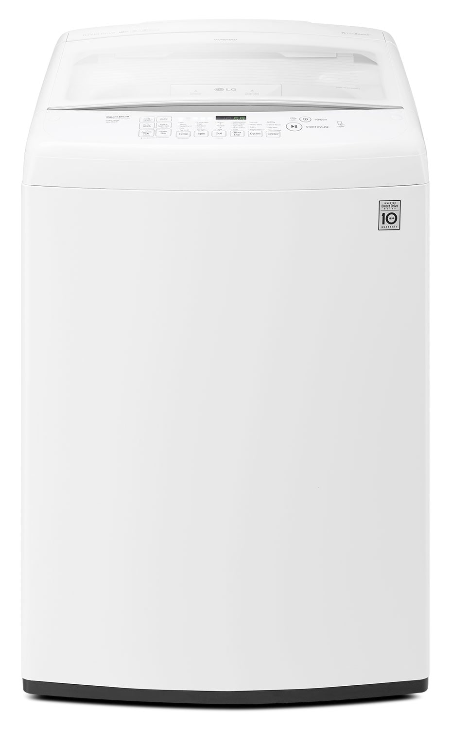 Washers and Dryers - LG Appliances White Top-Load Electric Washer (5.2 Cu. Ft. IEC) - WT1501CW