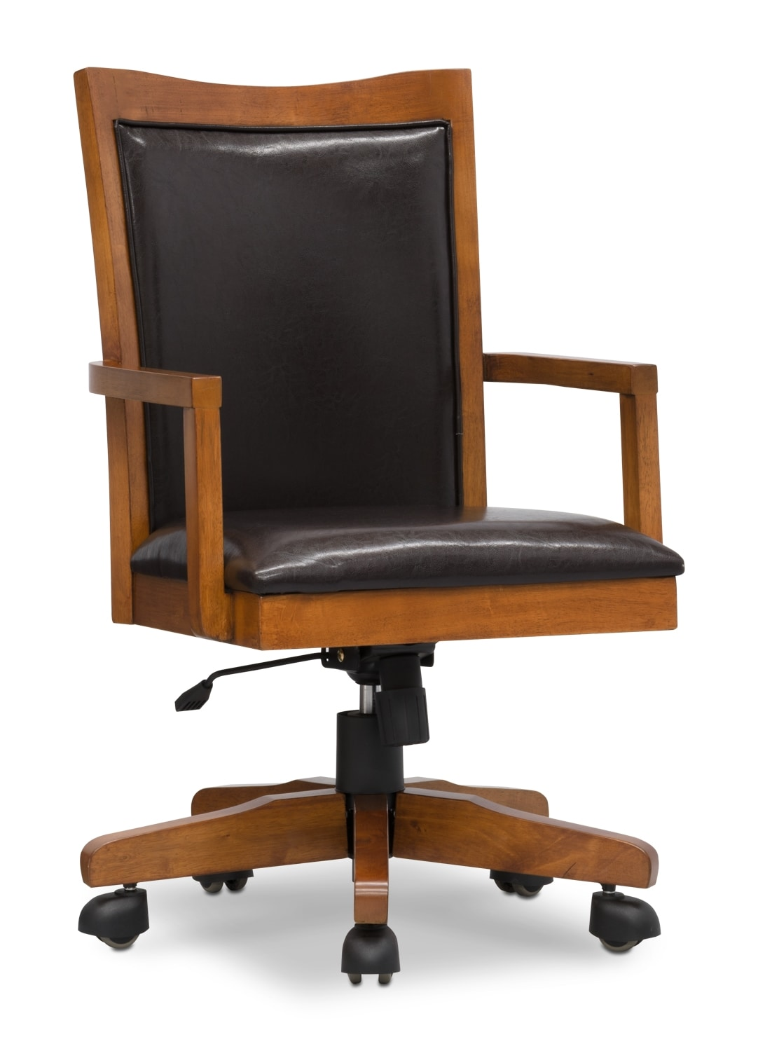 Carson Wood-Trim Office Chair