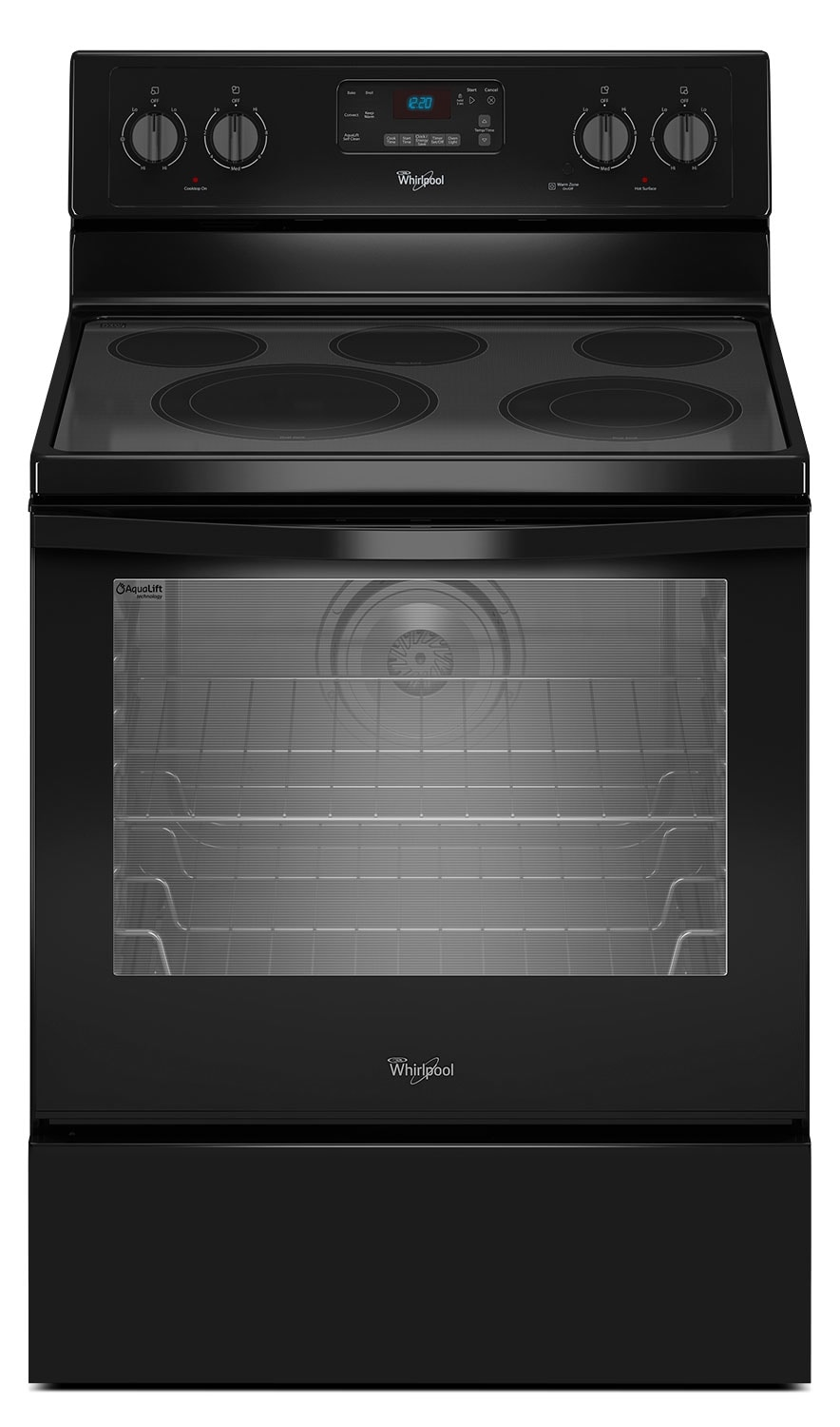 Cooking Products - Whirlpool 6.4 Cu. Ft. Electric Range with AquaLift® Technology - Black