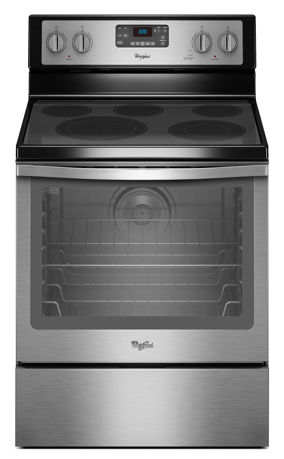 Cooking Products - Whirlpool 6.4 Cu. Ft. Electric Range with AquaLift® Technology - Stainless Steel