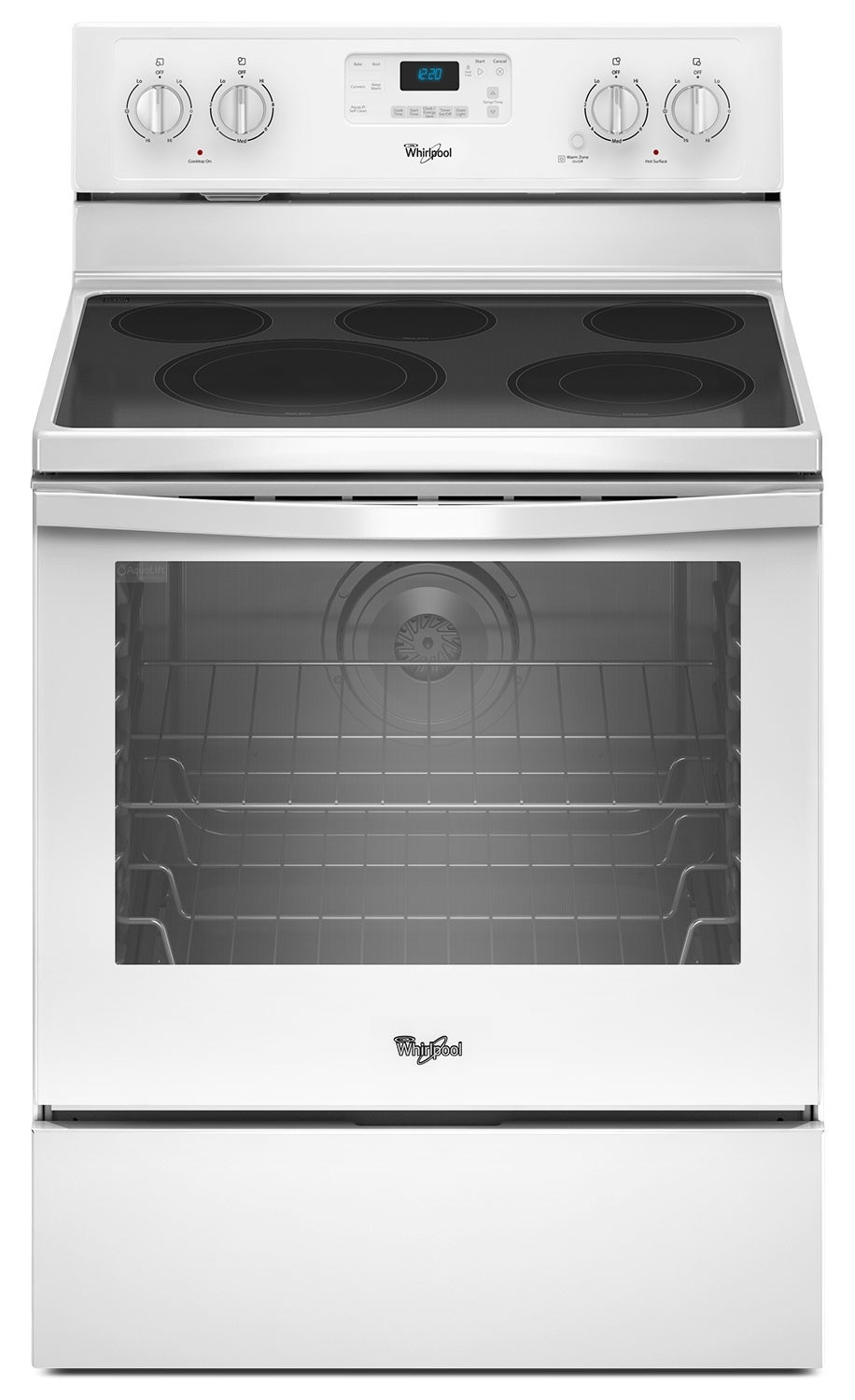 Cooking Products - Whirlpool 6.4 Cu. Ft. Electric Range with AquaLift® Technology - White