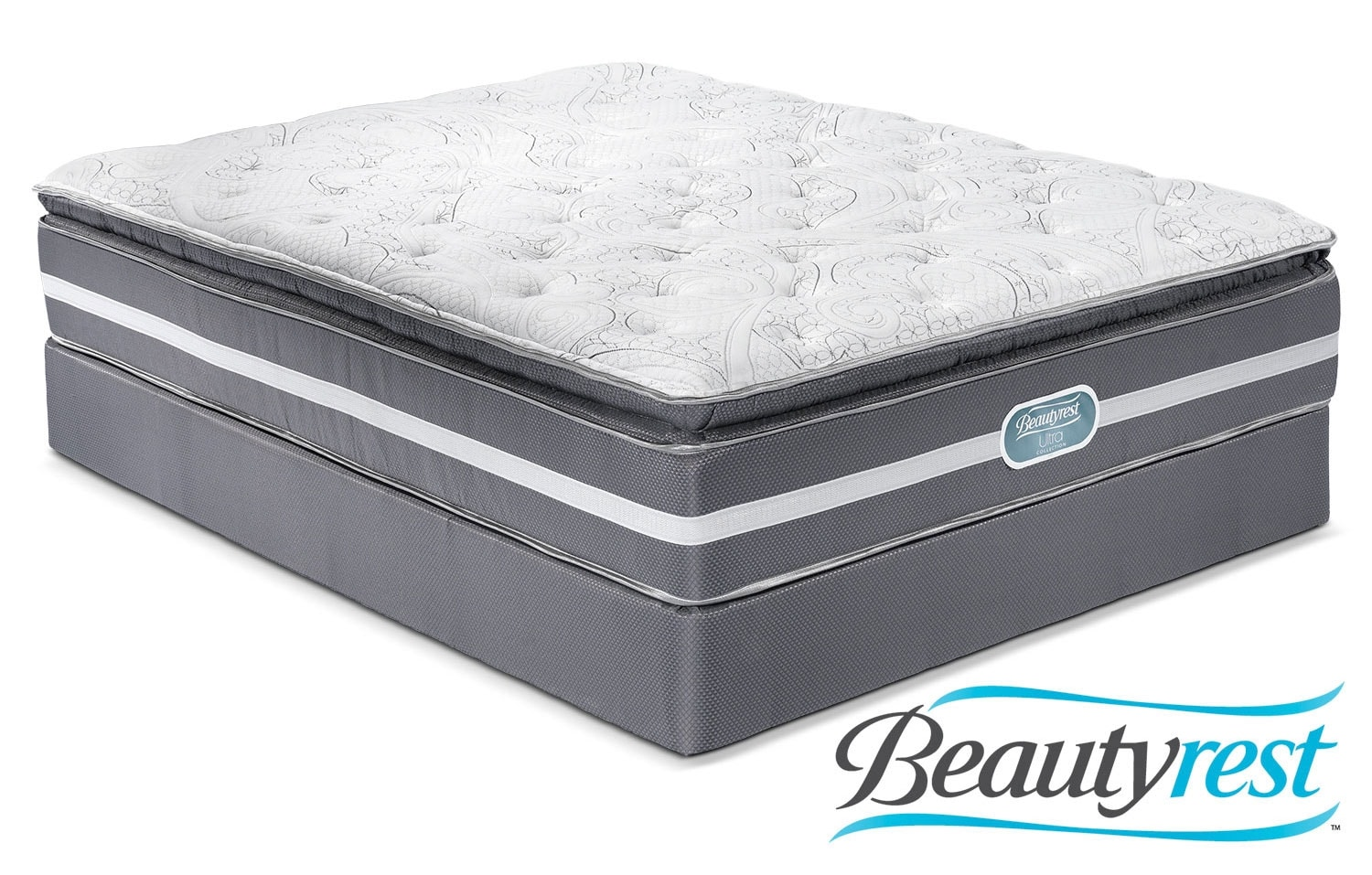 Mattresses and Bedding - Simmons Paradise Firm Queen Mattress/Boxspring Set