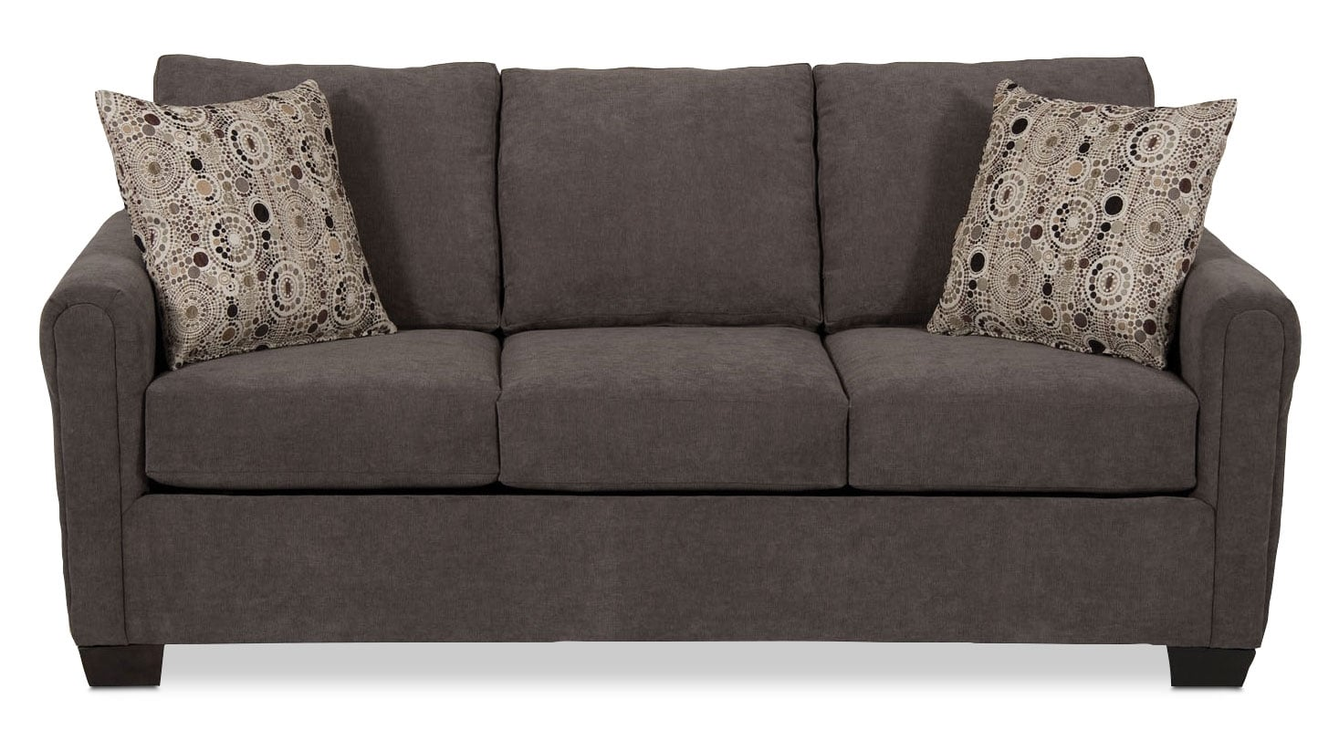 spa collection chenille full size sofa bed charcoal