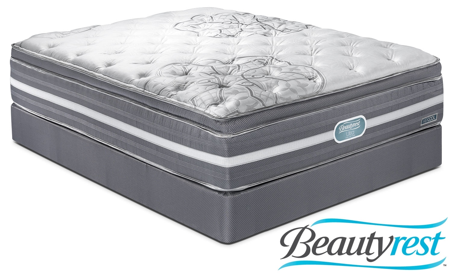 Mattresses and Bedding - Simmons Grand Luxe Plush Queen Mattress/Boxspring Set