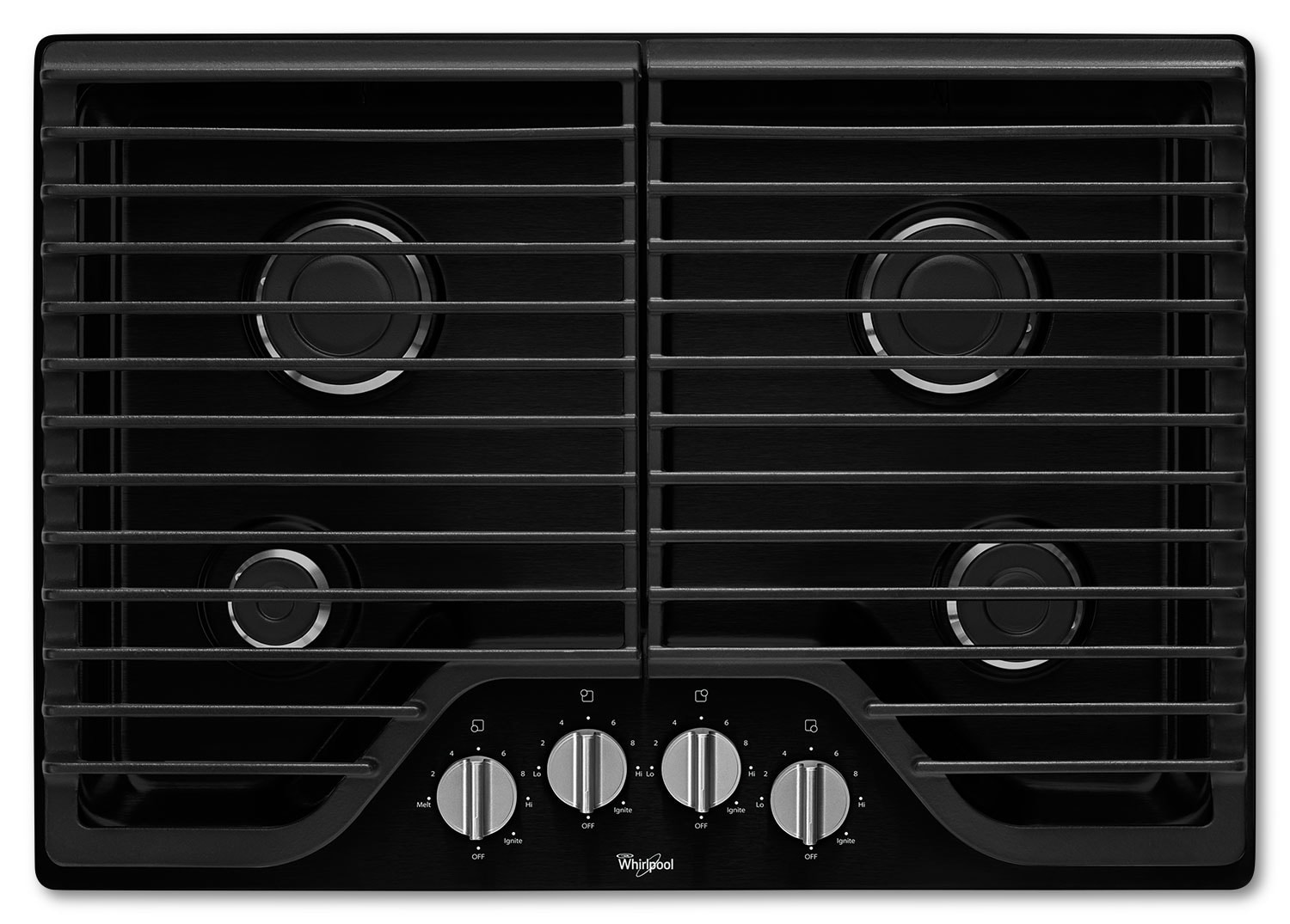 "Cooking Products - Whirlpool 30"" Gas Cooktop with SpeedHeat™ Burners - Black"