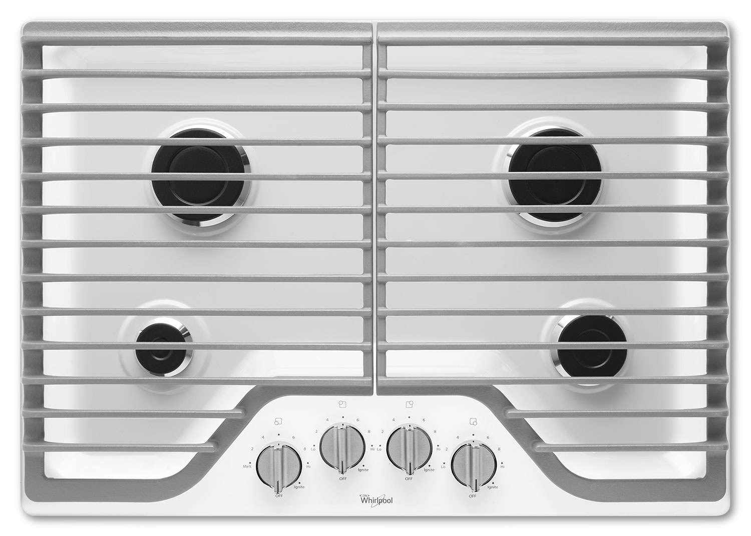 "Whirlpool 30"" Gas Cooktop with SpeedHeat™ Burners - White"