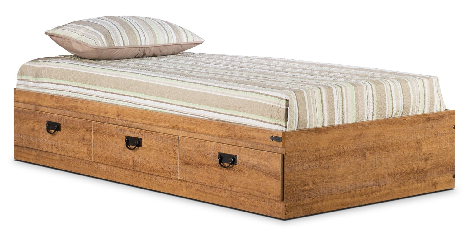 Kids Furniture - Driftwood Twin Mates Bed