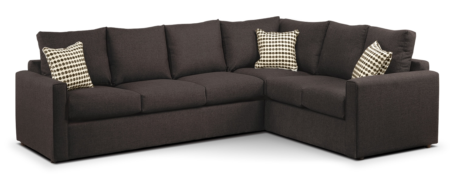 Athina Queen Sofabed Sectional - Nutmeg