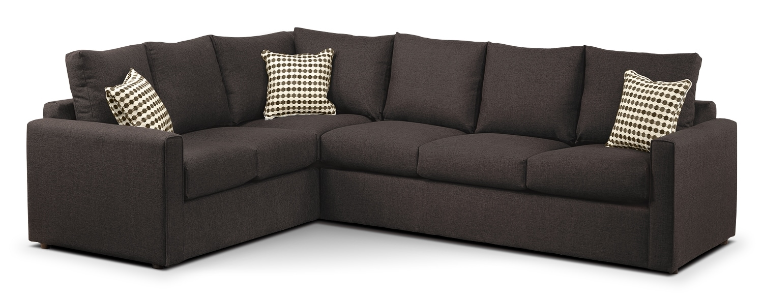 Athina Queen Sofabed Sectional (Reverse) - Nutmeg