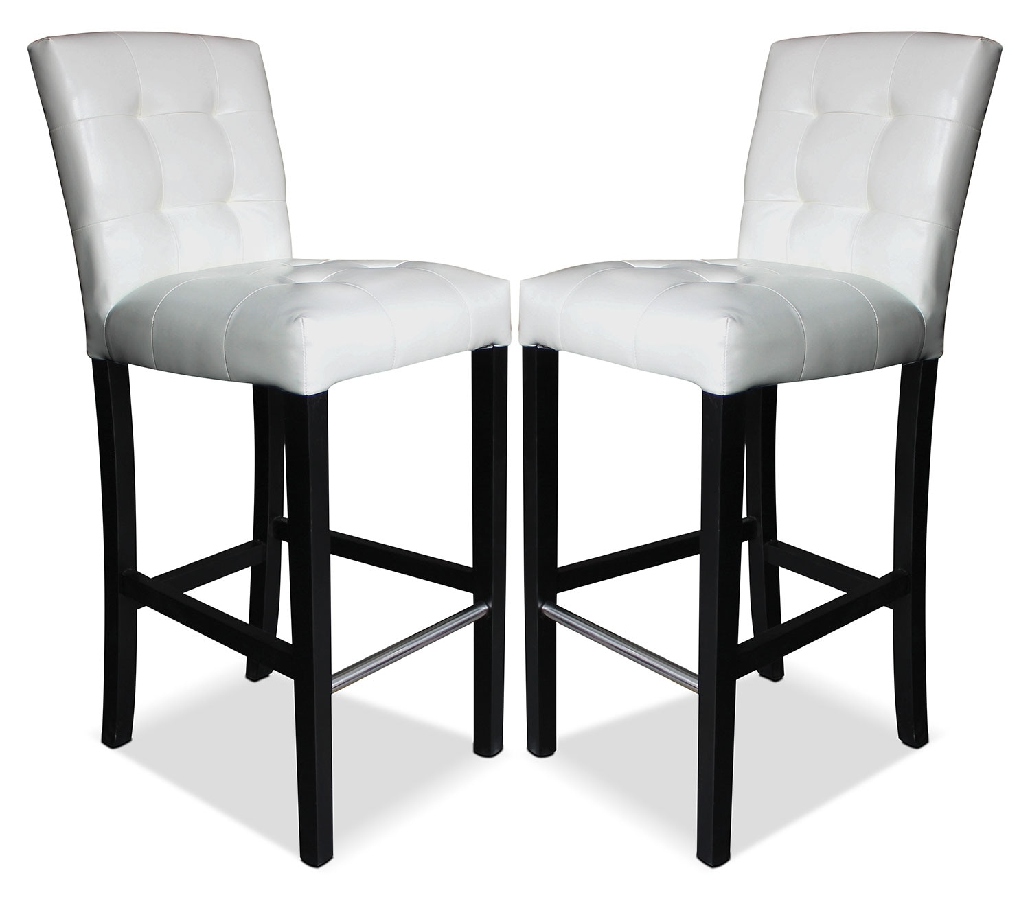 Dining Room Furniture - Cosmo Bar Stool Set of 2 - White