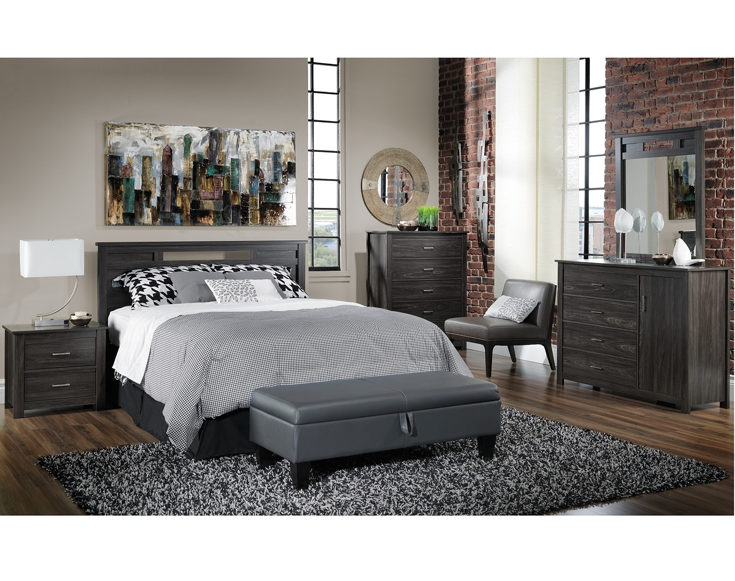 The Gordon Bedroom Collection - Coal