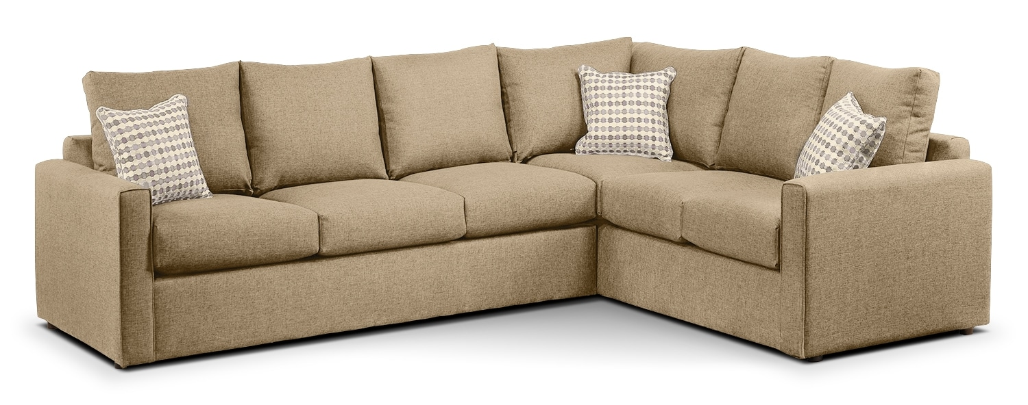 Queen sofa bed sectional - Athina 2 Piece Left Facing Queen Sofa Bed Sectional Mushroom