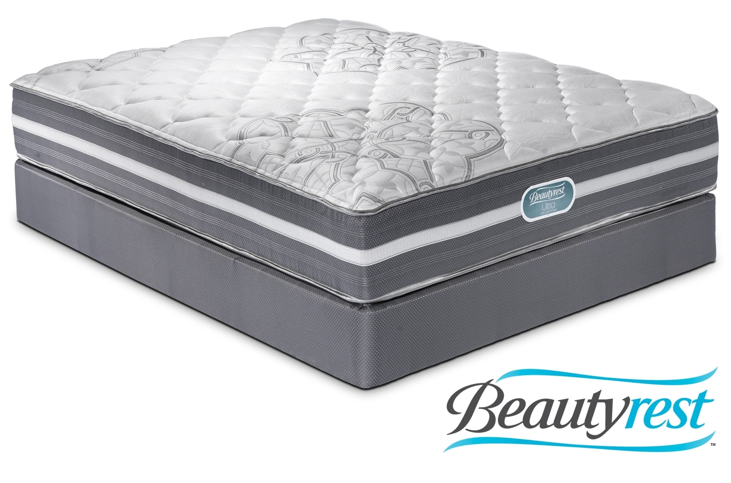 Mattresses and Bedding - Simmons Grand Vista Twin Mattress/Boxspring Set