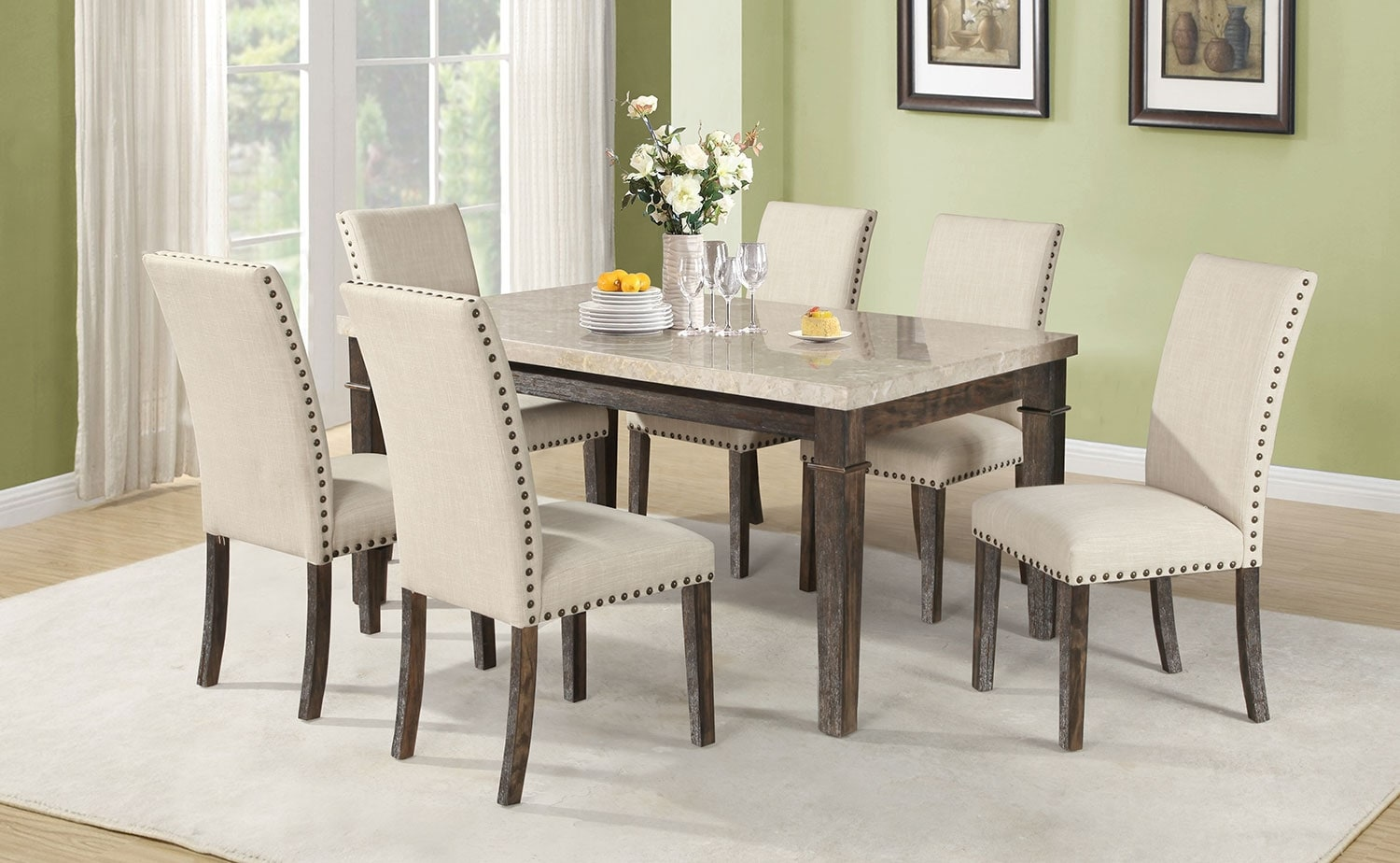 Dining Room Furniture - Aldo 7-Piece Dining Package