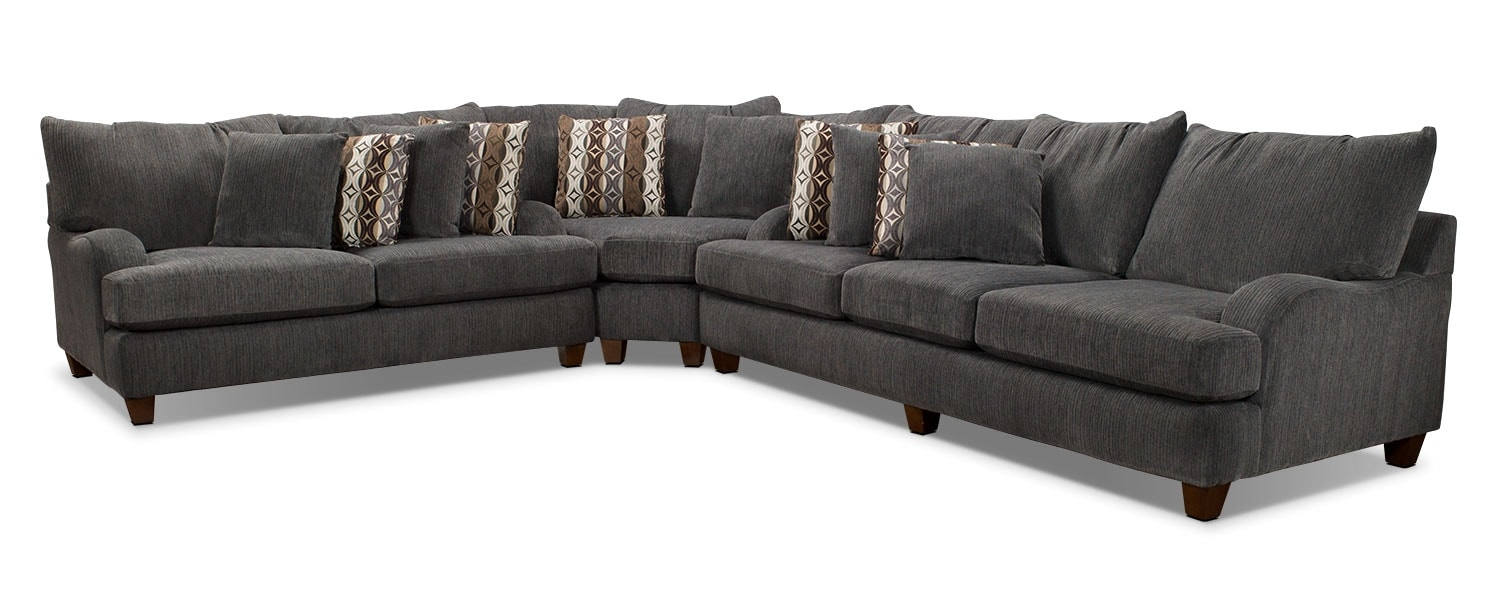 awesome putty chenille piece sectional grey the brick with chenille sectional  sc 1 st  thisnext.us : the brick sectionals - Sectionals, Sofas & Couches