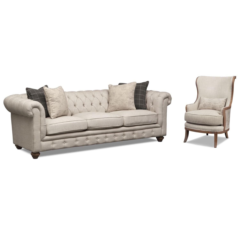 Madeline Sofa Beige American Signature Furniture