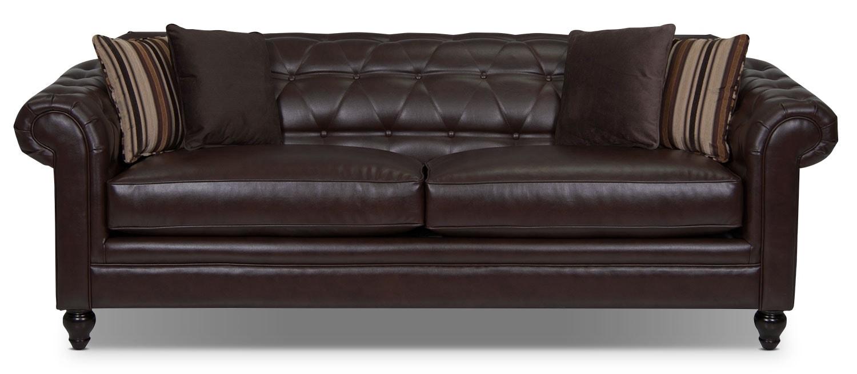 Julia Bonded Leather Sofa - Cognac