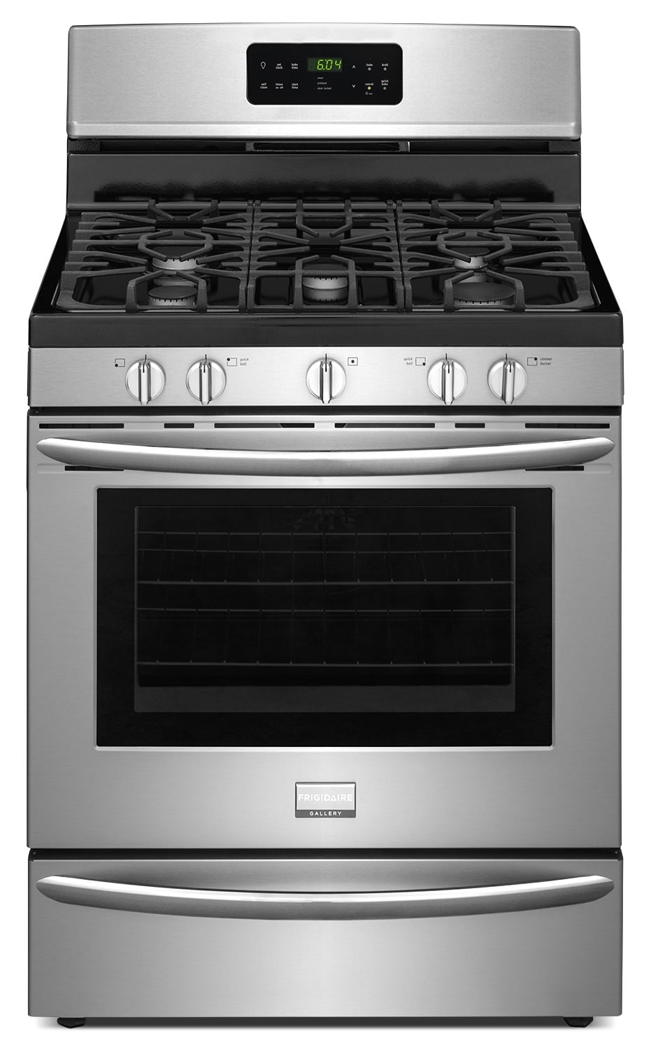 "Frigidaire Gallery 30"" Freestanding Gas Convection Range – Stainless Steel"