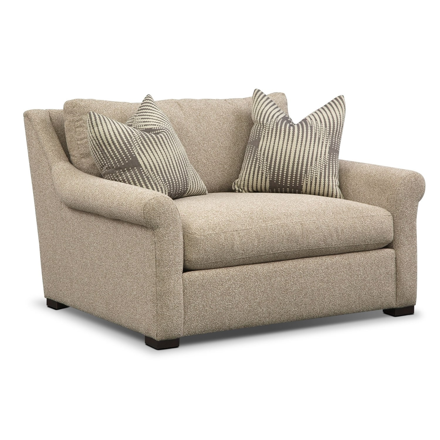 Robertson comfort 2 pc living room package w chair for Comfort living furniture