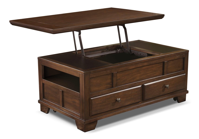 Décoratif et Occasionnel - Table à café Gately avec dessus relevable