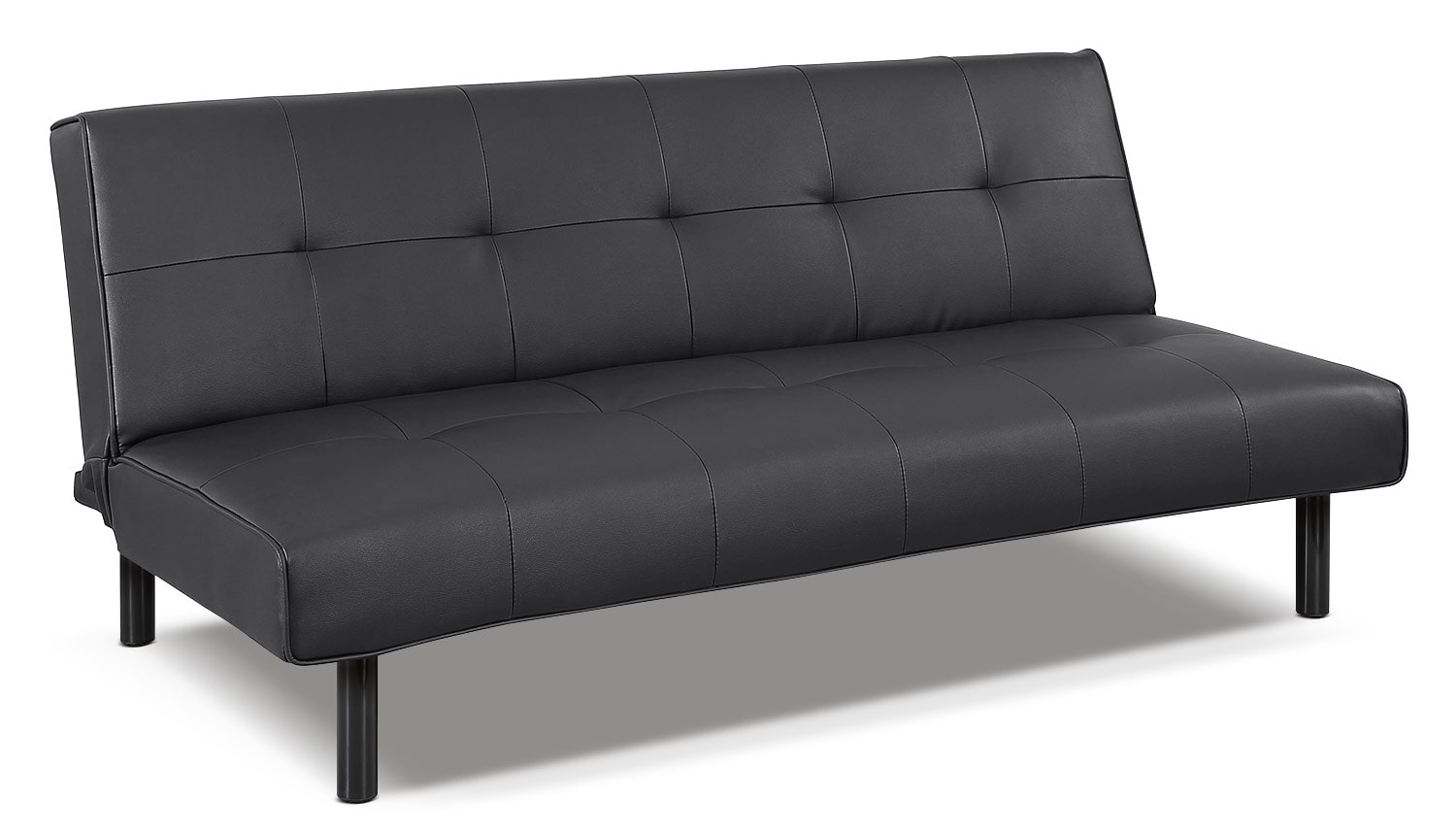 Xoom Convertible Sofa Black Leon 39 S