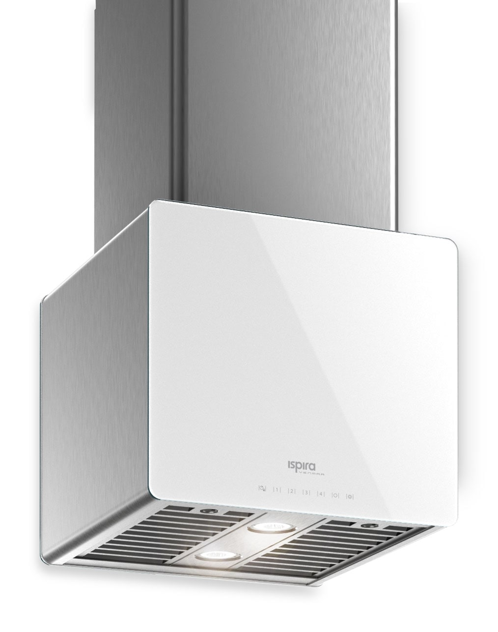"Cooking Products - Venmar Ispira 16"" Island or Chimney Range Hood – White Panel IK70016WH"