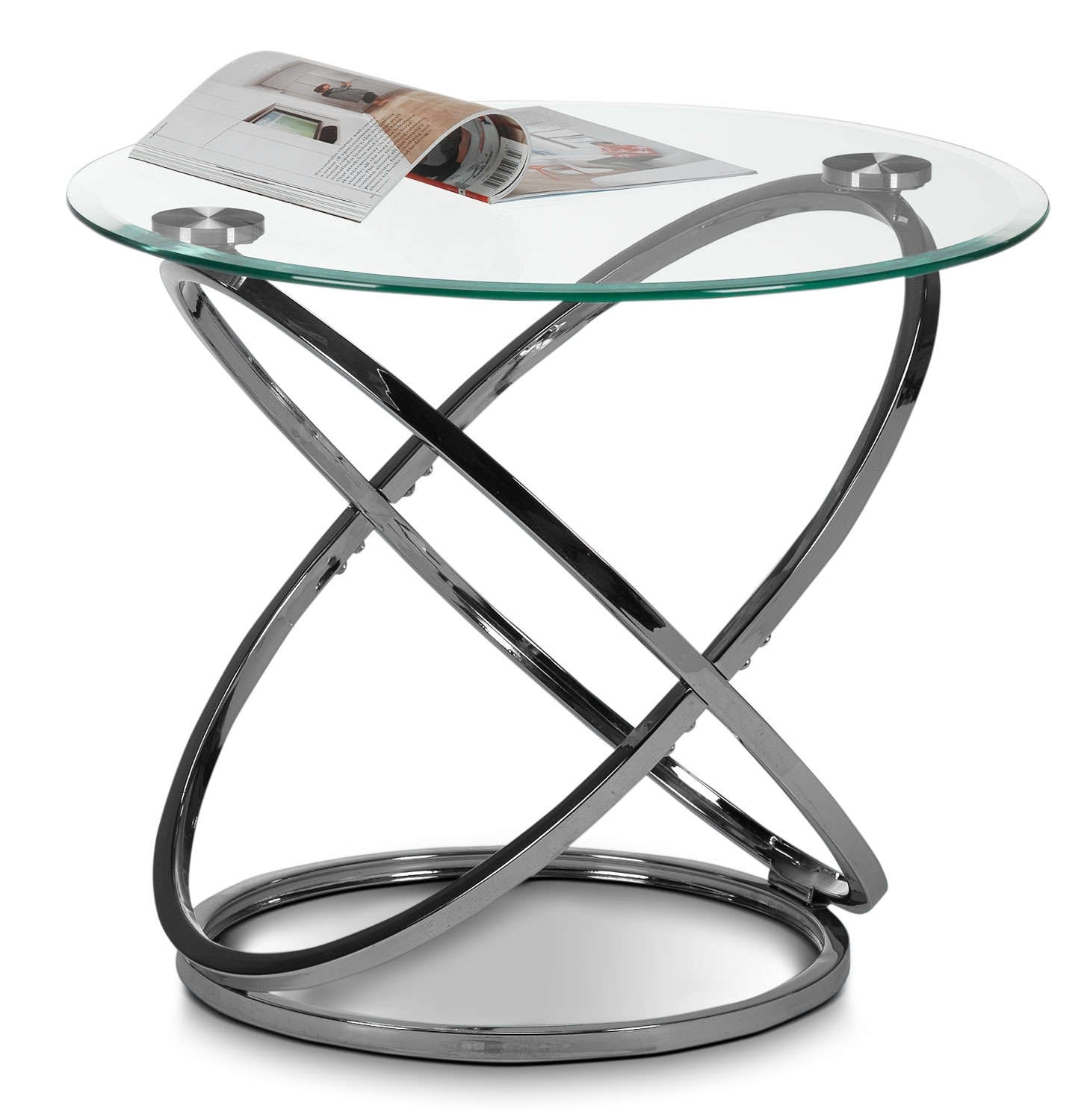 Axis End Table - Chrome
