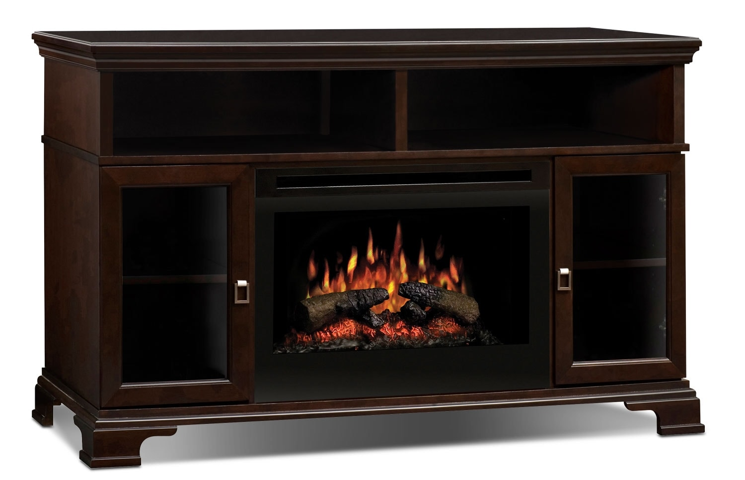 "Entertainment Furniture - Brookings 53"" TV Stand with Log Firebox"
