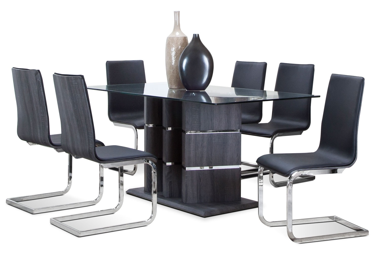 Dining Room Furniture - Ronin 7 Pc. Dining Room Package