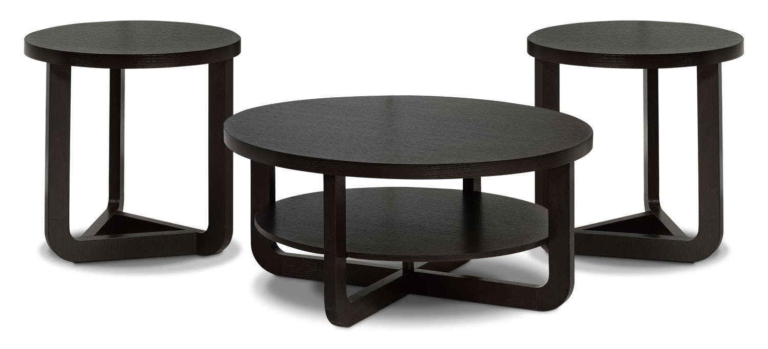 Accent and Occasional Furniture - Windsor 3-Piece Coffee and Two End Tables Package