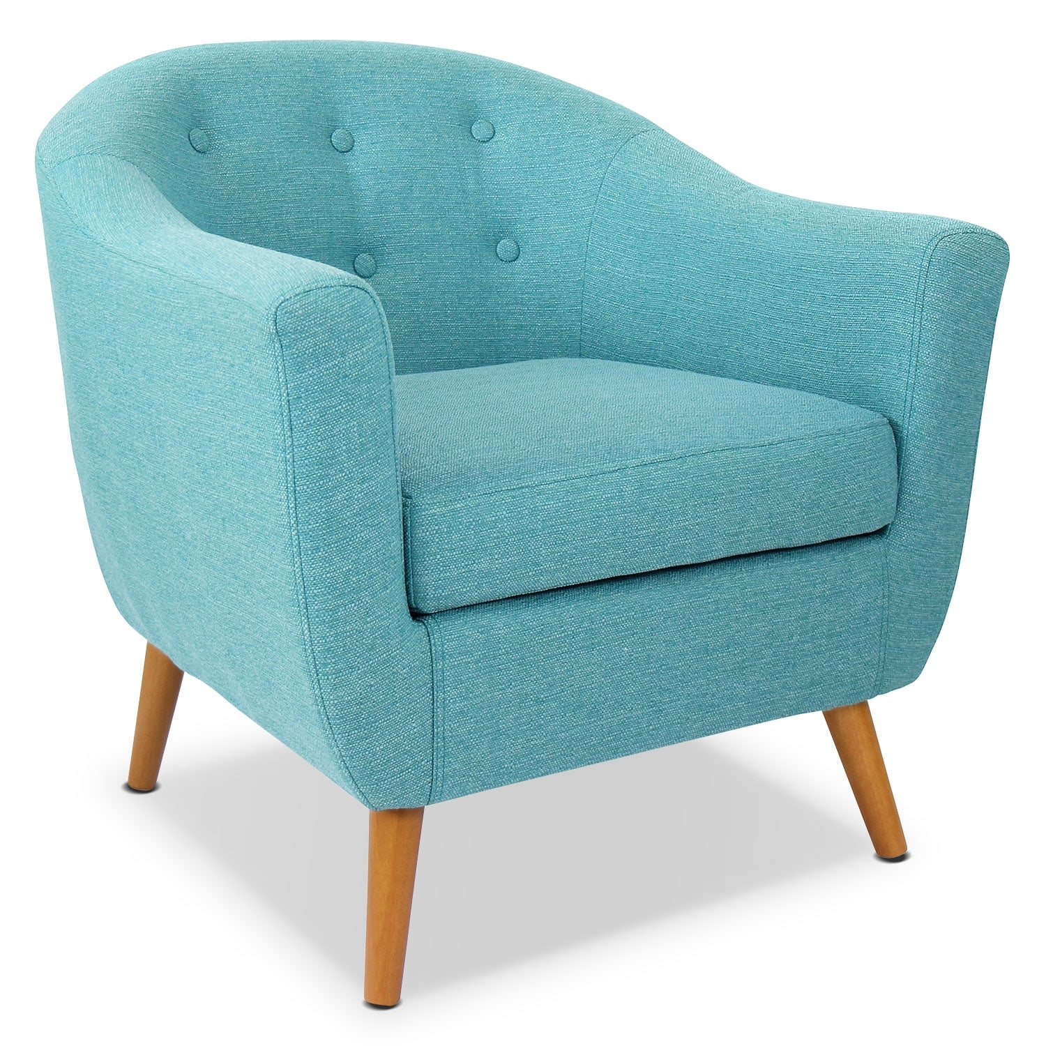 Norman Accent Chair Teal Value City Furniture