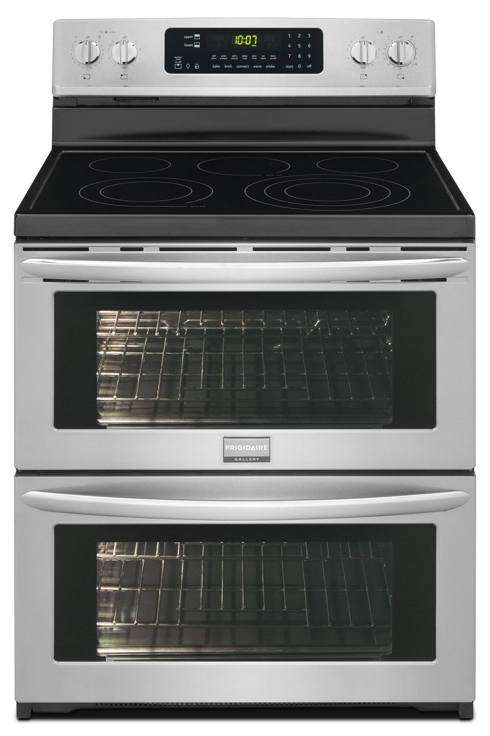 Cooking Products - Frigidaire 7.2 Cu. Ft. Freestanding Electric Double-Oven Range – Stainless Steel