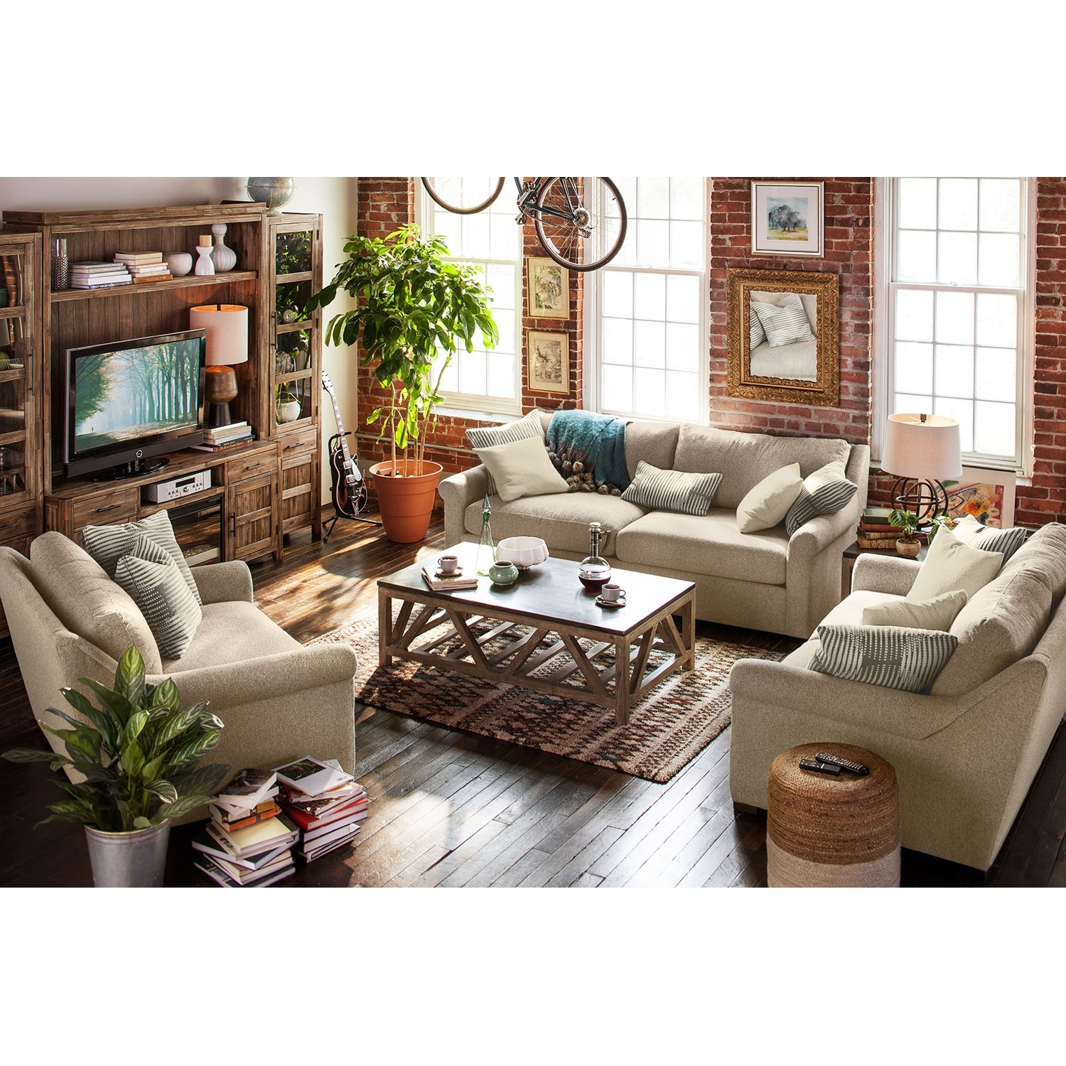 Robertson comfort chair and a half american signature for Comfort living furniture