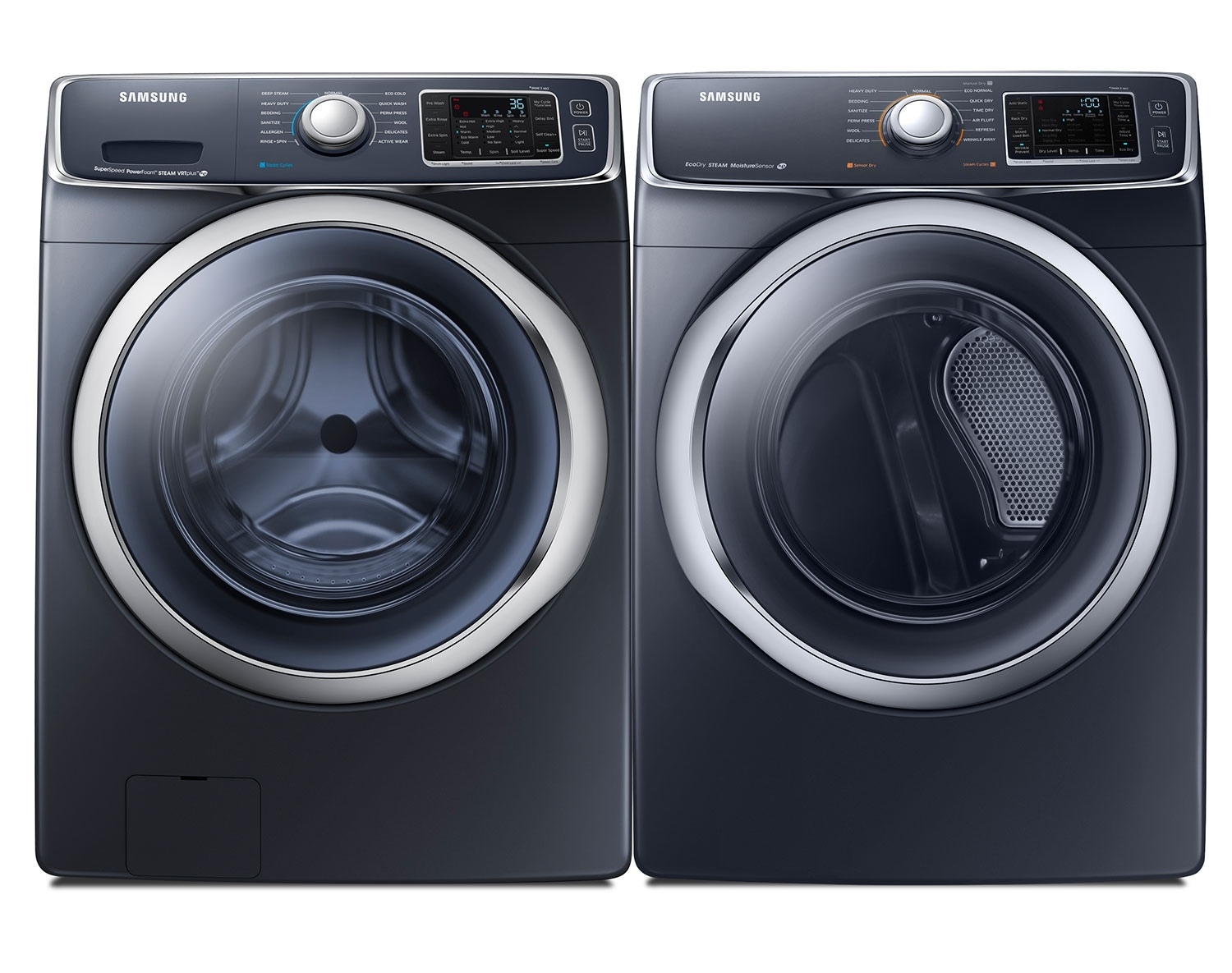 [Samsung Black Front-Load Laundry Pair]
