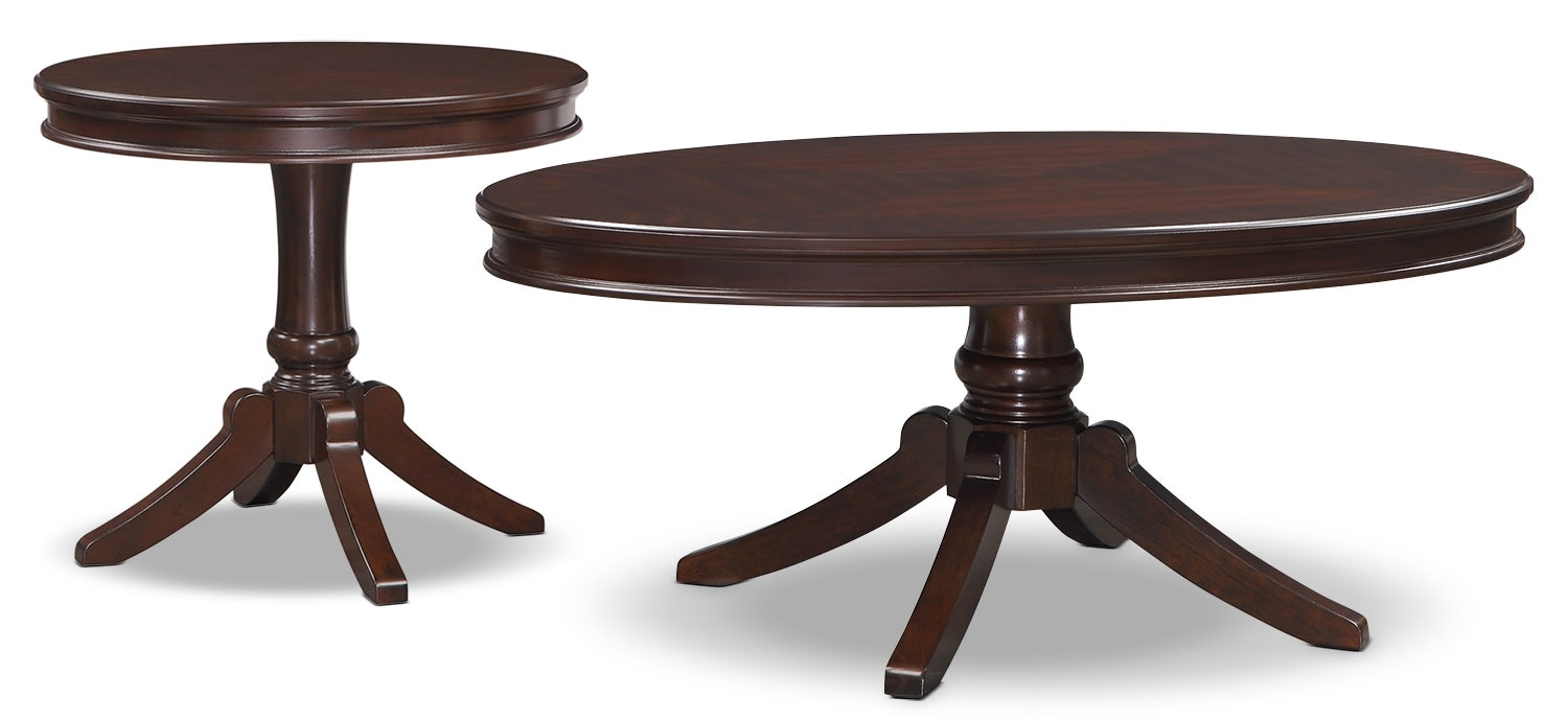 Accent and Occasional Furniture - Teslin 2-Piece Coffee and End Table Package