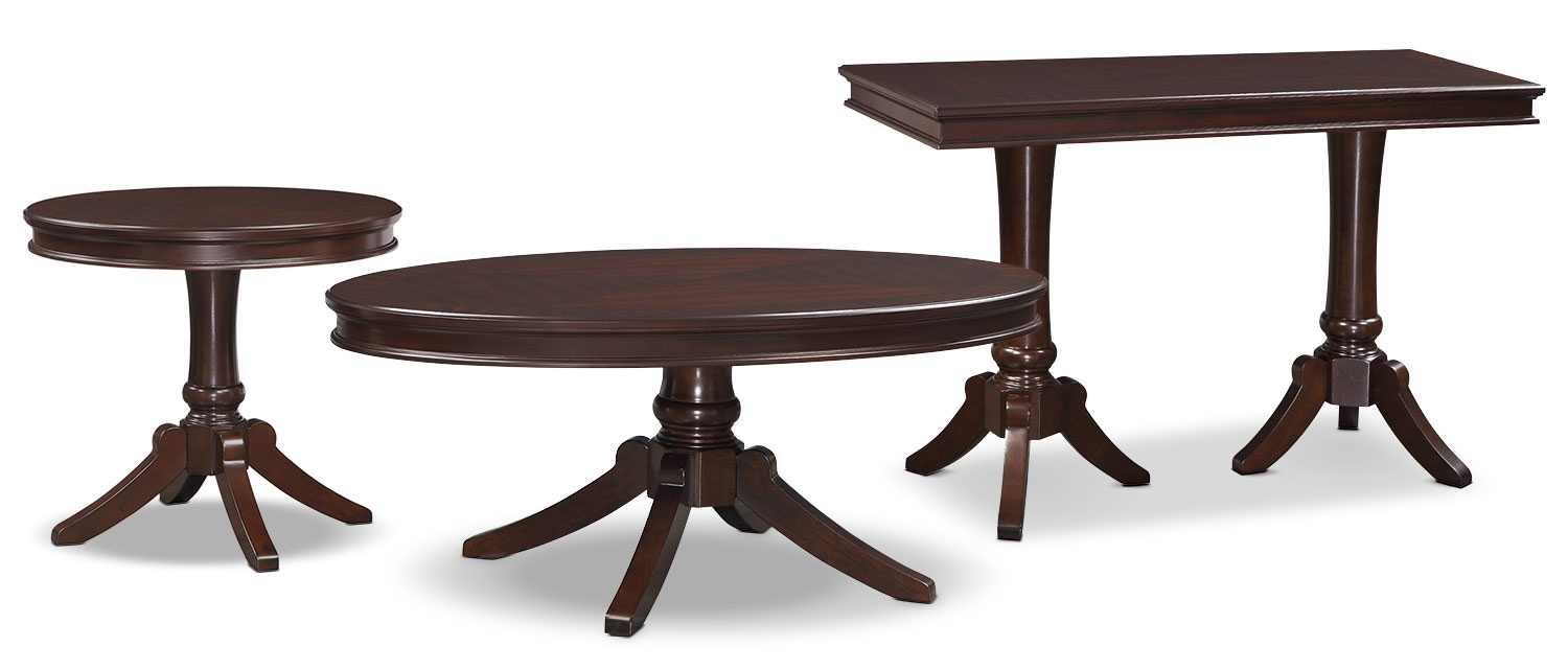 Accent and Occasional Furniture - Teslin 3-Piece Coffee, End and Sofa Table Package