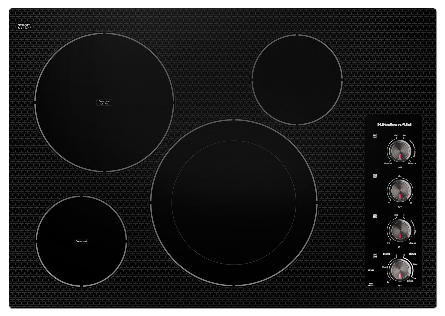 "Cooking Products - KitchenAid 30"" Electric Cooktop with 4 Radiant Elements - Black"