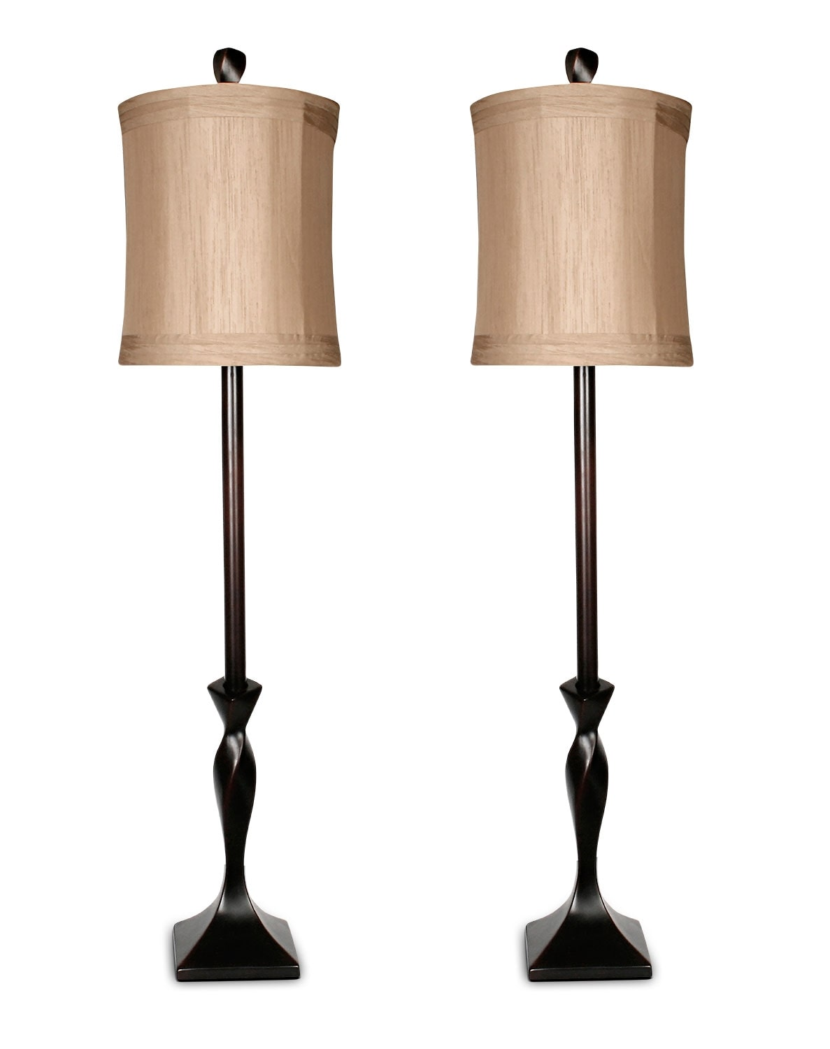 Coffee Bean 2-Piece Table Lamp Set