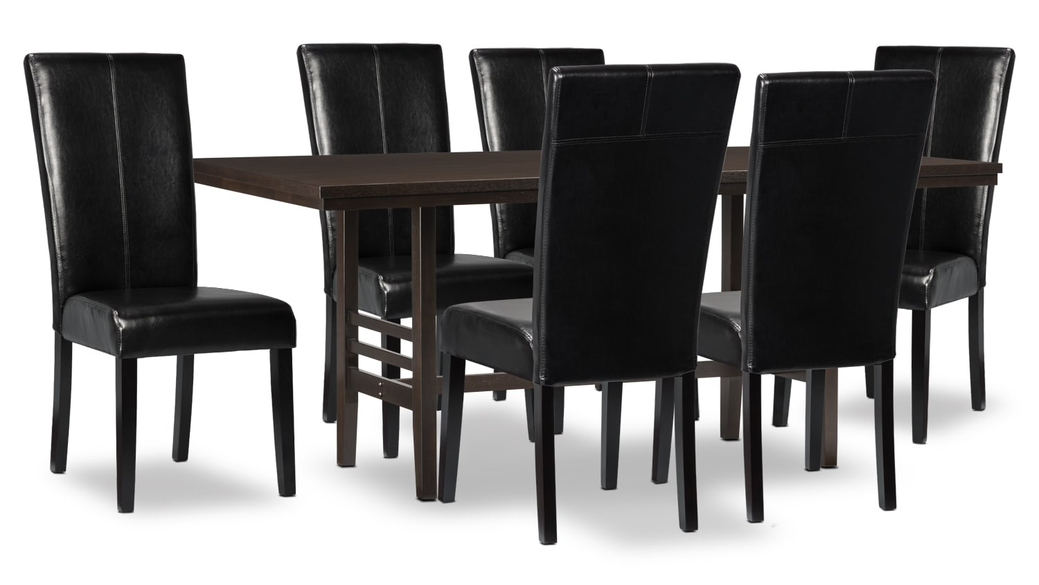 Metro 7-Piece Dining Package - Black