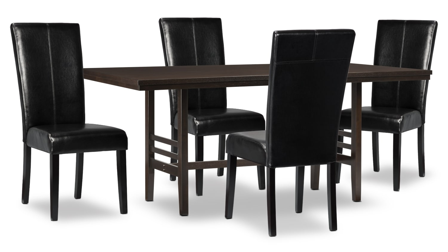 Dining Room Furniture - Metro 5-Piece Dining Package - Black