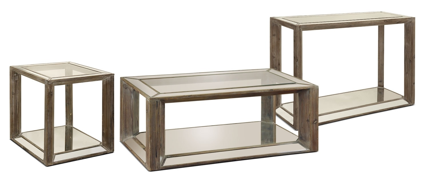 Accent and Occasional Furniture - Adena 3-Piece Coffee, End and Sofa Table Package