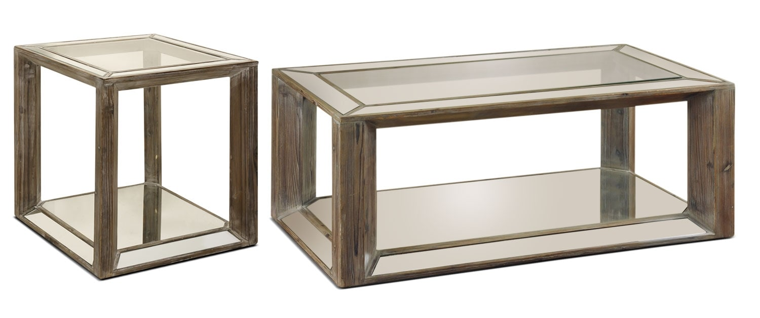 Accent and Occasional Furniture - Adena 2-Piece Coffee and End Table Package